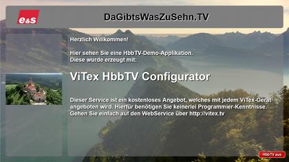 Beispiel für den ViTex HbbTV Configurator